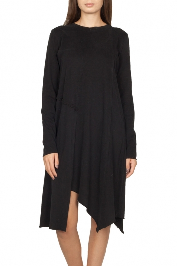 Noah asymmetrical dress black - Theodore