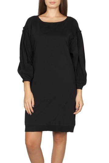 Noah dress black with puff sleeves - Declan