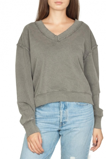 Noah V-neck top grey - Olivia