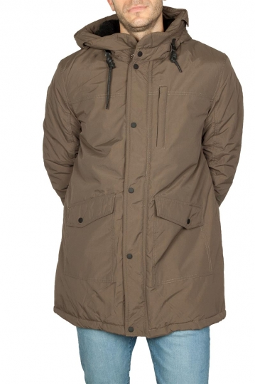 Splendid men's hooded parka fango color