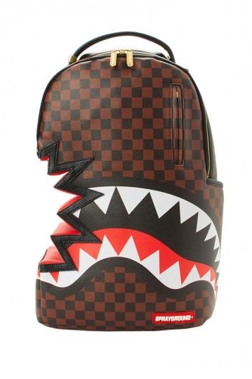 Sprayground Shark Bite: Sharks in Paris backpack brown