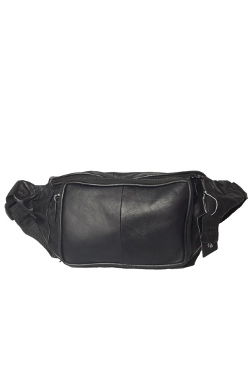 Leather hip pack black