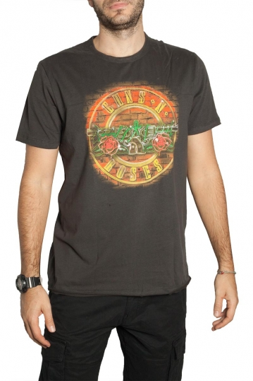 Amplified Guns n' Roses Neon Sign t-shirt charcoal