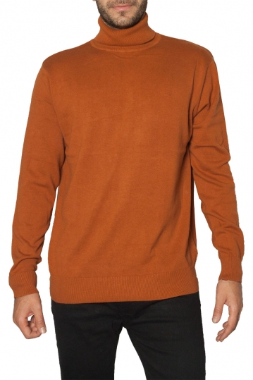 Brave Soul roll neck sweater camel