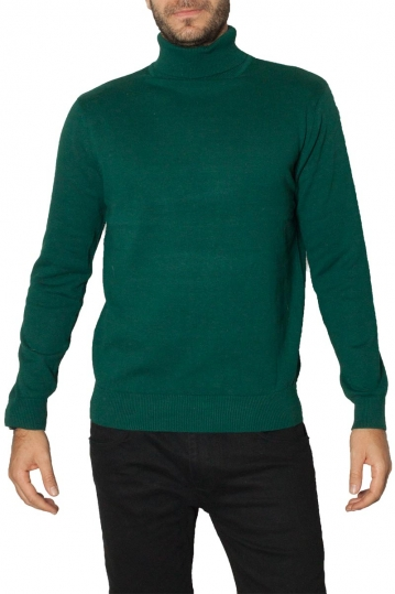 Brave Soul roll neck sweater dark green