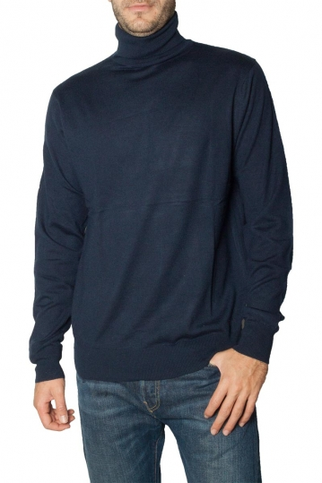 Men's roll neck sweater navy