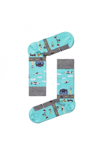 Besocks® BeAirport organic cotton socks sky blue