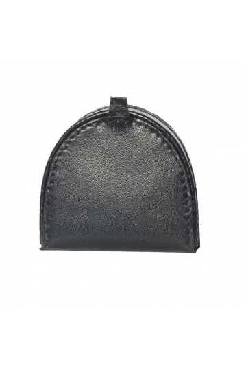 Men's leather coin tray purse black