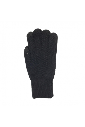 Knitted touch screen gloves black