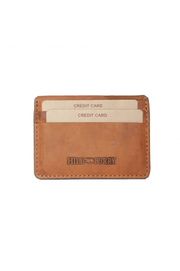 Hill Burry leather card holder brown