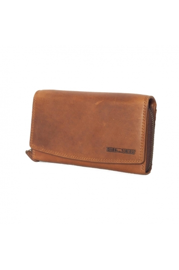 Hill Burry leather clutch wallet brown - RFID