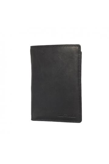 Hill Burry leather vertical wallet black - RFID