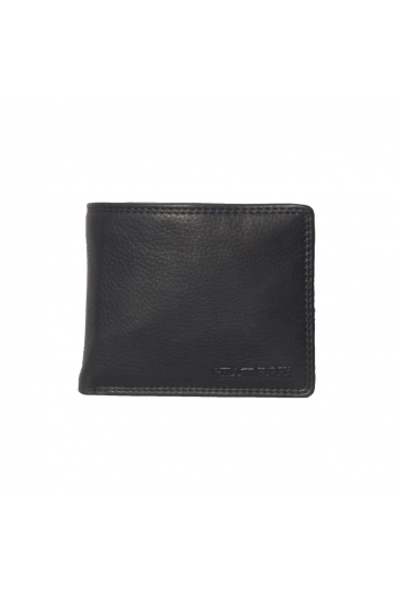 Hill Burry men's leather wallet black - RFID