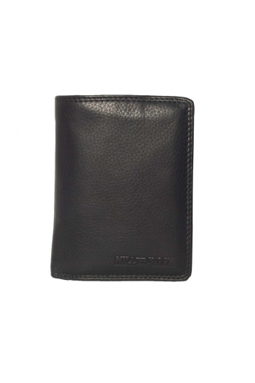 Hill Burry men's leather double wallet black - RFID