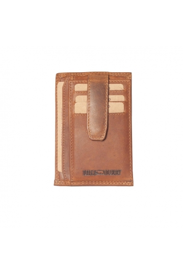 Hill Burry leather card holder brown - RFID