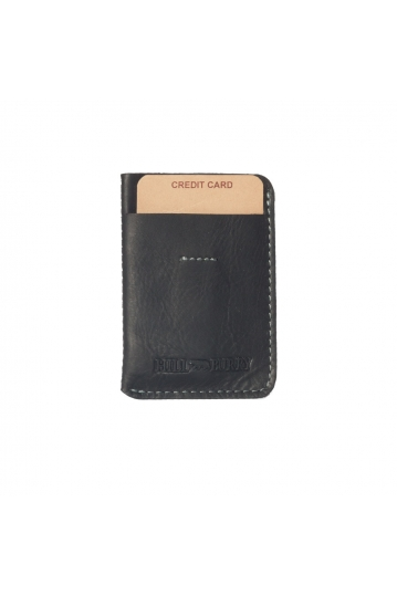 Hill Burry leather card holder black