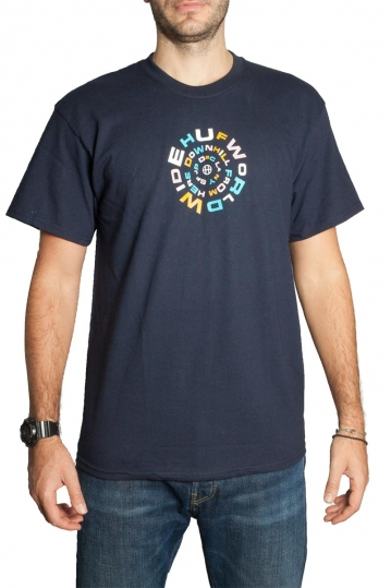 Huf t-shirt downward spiral navy