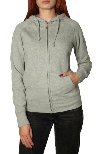 Scout zip up hoodie grey melange