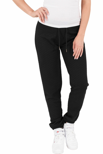 Urban Classics quilted joggers black