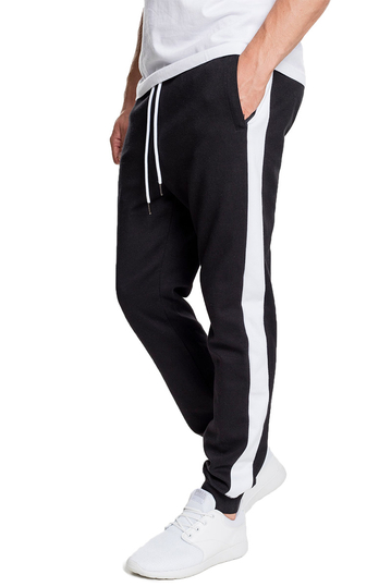 Urban Classics joggers black with side stripe