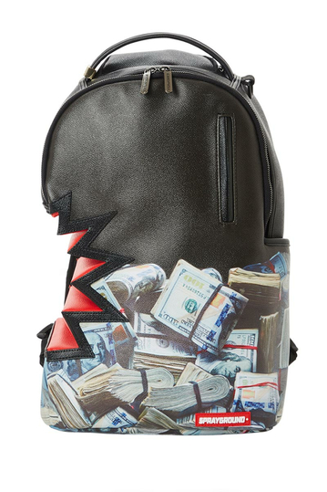 Sprayground Money Stacks Shark bite backpack