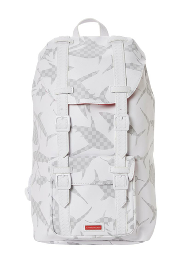 Sprayground The Hills Shark pattern backpack white