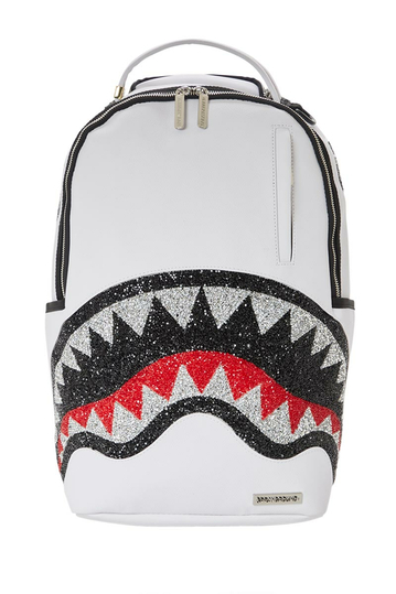 Sprayground Trinity 2.0 crystal DLX backpack white