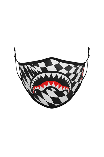 Sprayground Trippy check Shark polyester mask