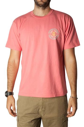 Obey supply & demand organic t-shirt pink