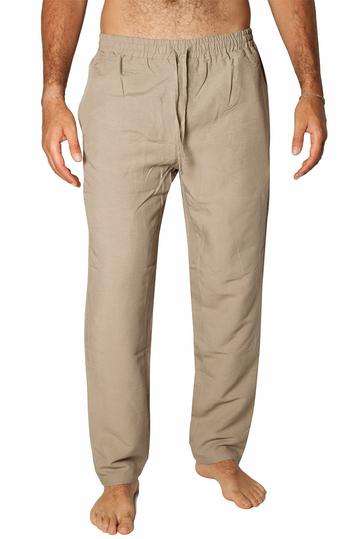 Bigbong linen blend pants Safari beige