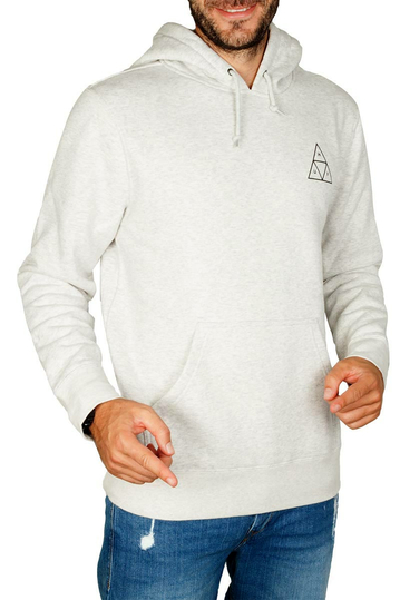 Huf Triple Triangle pullover hoodie heather grey