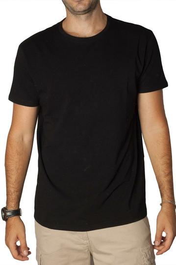 Losan stretch cotton t-shirt black