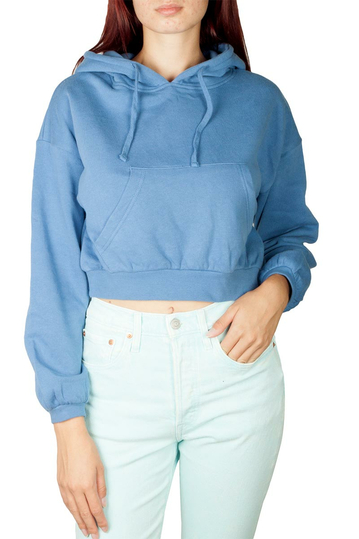 Scout cropped hoodie blue