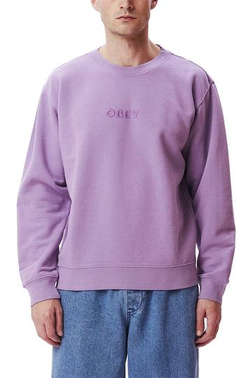 Obey Bold Ideals sweatshirt orchid