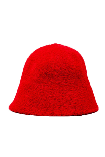 Q2 knitted bucket hat red