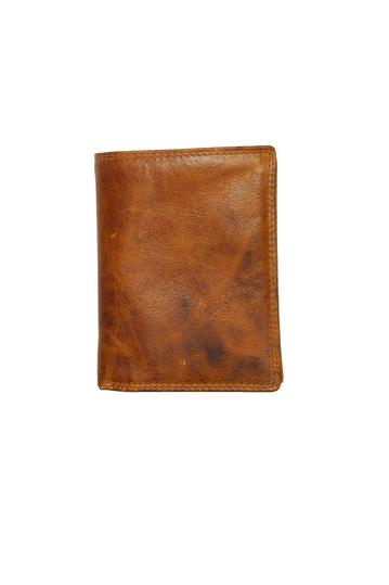 Black Buck leather vertical wallet - RFID