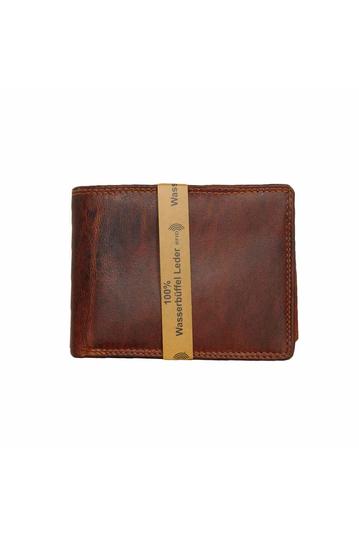 Black Buck leather wallet brown natural - RFID