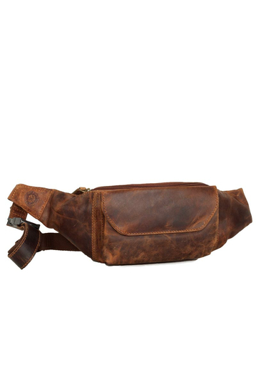 Black Buck leather hip pack wild natural