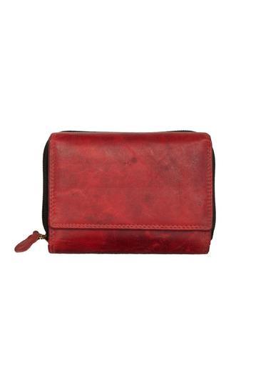 Black Buck leather wallet red - RFID