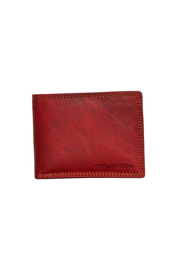Black Buck leather wallet red