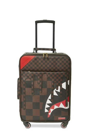 Sprayground XTC Sharks in Paris Cut & Sew Vegan Leather Carry-on Luggage