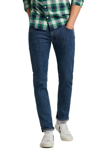 Lee Daren zip fly jeans regular straight - mid stone wash