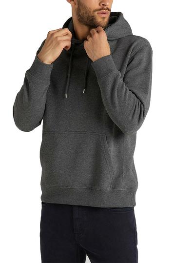 Lee plain hoodie dark grey mele