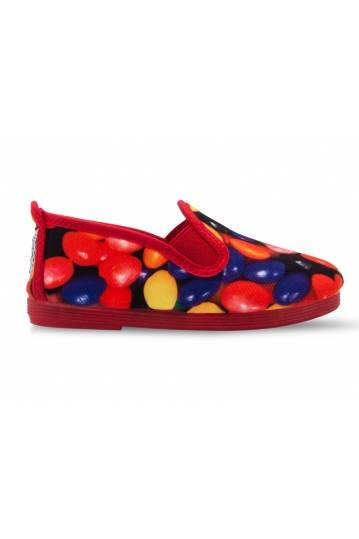 Flossy kids plimsoll Haro red