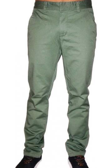 Wesc men's Eddy chino pants in cango green