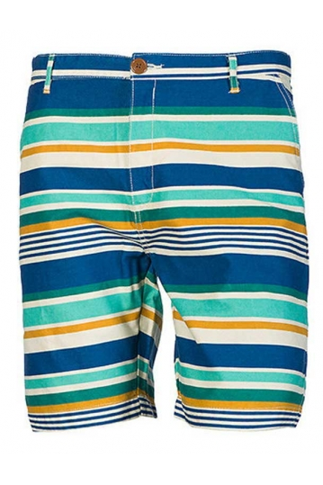 Bellfield men's chino shorts Wyoming blue/green