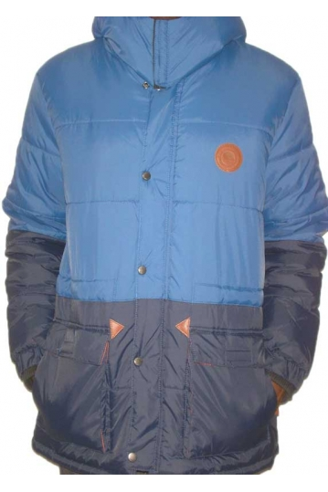 Bellfield men's puffa parka blue