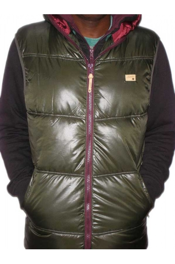 Humor George hooded Gilet in olivegreen