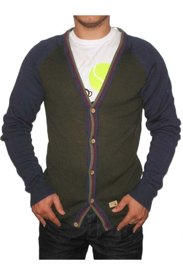 Humor men's Knit Cardigan olive