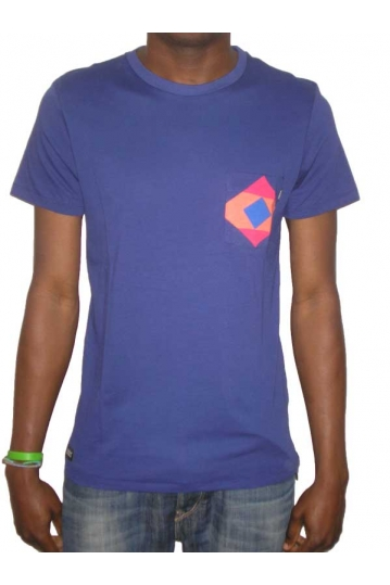 Wesc Walton men's blue t-shirt with print pocket